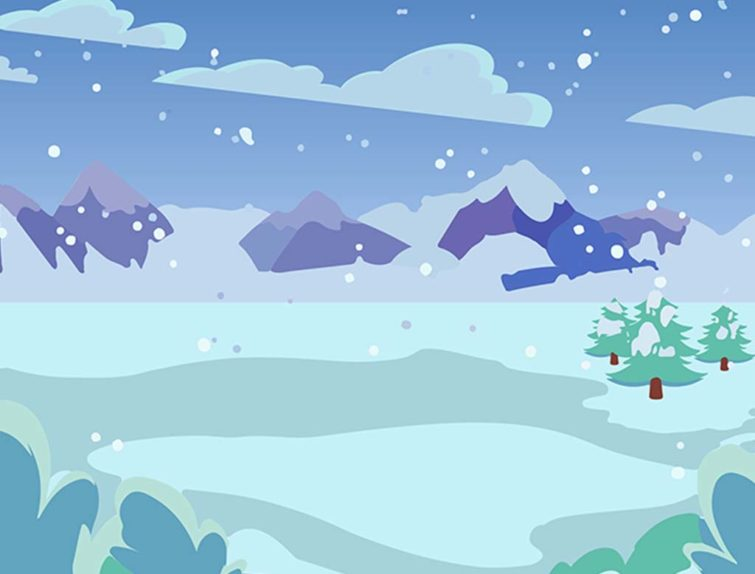 Winter Setting Animation